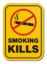 Smoking kill sign suitable for warning signs Royalty Free Stock Image