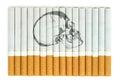 Smoking kills conceptual image with skull on cigarettes Royalty Free Stock Photo