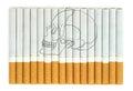 Smoking kills conceptual image with skull on cigarettes Stock Photos