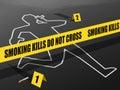 Smoking Kills-Do not Cross Royalty Free Stock Photo