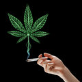 Smoking marijuana Royalty Free Stock Photo