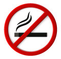 Smoking not allowed d render of sign Royalty Free Stock Photo