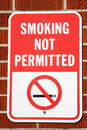 Smoking Not Permitted Sign Royalty Free Stock Photo