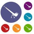 Smoking pipe icons set