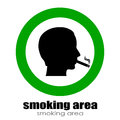Smoking room vector sign isolated on white Stock Photography