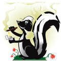 Smoking Skunk Royalty Free Stock Photos