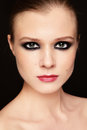 Smoky eyes Stock Images