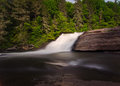 Smoky mountain waterfall dupont state forest near asheville nc long exposure capture and beauty of this wonderful triple falls Stock Photos
