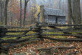 Smoky Mountains Restored Rustic Cabin Royalty Free Stock Photo