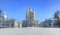 The Smolny Cathedral, St. Petersburg, Russia Royalty Free Stock Photo