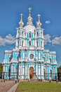 Smolny Cathedral - Orthodox church of the Smolny convent, St. Pe Royalty Free Stock Photo