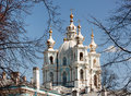 Smolny cathedral in Russia Royalty Free Stock Image