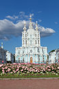Smolny cathedral saint petersburg is a famous building by architect francesco bartolomeo rastrelli constructed in years Stock Photos