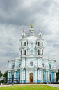 Smolny cathedral in saint petersburg russia Royalty Free Stock Photography