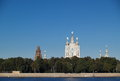 Smolny cathedral in saint petersburg view of russia Stock Image