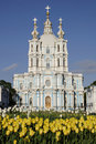 Smolny Cathedral in Saint-Petesburg, Russia Royalty Free Stock Photos
