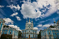 Smolny cathedral St.-Petersburg Royalty Free Stock Photos