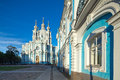 Smolny Cathedral. St. Petersburg, Russia Royalty Free Stock Photo