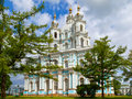 Smolny cathedral st petersburg view on russia Stock Photography