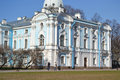 Smolny cathedral at sunny weather saint petersburg russia Stock Photography
