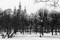 Smolny cathedral winter time saint petersburg russia Stock Photography