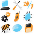 Smooth computer service icons Royalty Free Stock Photo