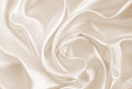 Smooth elegant golden silk or satin as wedding background. In Se Royalty Free Stock Photo