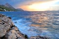 Smooth Evening Sea and Sky Royalty Free Stock Photo