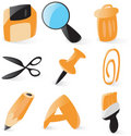 Smooth file operations icons Royalty Free Stock Photo
