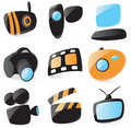 Smooth media device icons Royalty Free Stock Photo