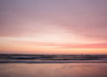 Smooth pastel colors of sunset over the ocean Royalty Free Stock Photo