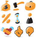 Smooth sales and auction icons Royalty Free Stock Image
