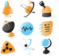 Smooth science icons Royalty Free Stock Photo
