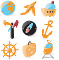 Smooth travel icons Royalty Free Stock Photo