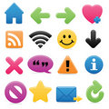 Smooth Web Symbols Stock Image