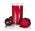Smoothie with beet healthy root and apple isolated on wooden background Stock Photos