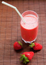 Smoothie de fraise Photographie stock