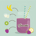 Smoothie design smoothies digital vector illustration eps Royalty Free Stock Image