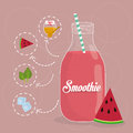 Smoothie design smoothies digital vector illustration eps Stock Photography