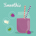 Smoothie design smoothies digital vector illustration eps Stock Images