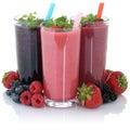 Smoothie fruit juice with fresh fruits isolated Royalty Free Stock Photo