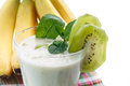 Smoothie with kiwi and banana Royalty Free Stock Photo