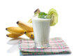 Smoothie with kiwi and banana Royalty Free Stock Photo