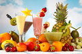 Smoothie or milkshake fun Royalty Free Stock Photo