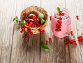 Smoothie of redcurrant and berry. Royalty Free Stock Photo