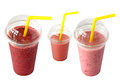 Smoothies in plastic cup Royalty Free Stock Photo
