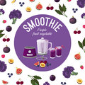 Smoothies. Purple vegetables. Vector illustration Royalty Free Stock Photo
