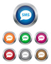 SMS buttons Royalty Free Stock Photography