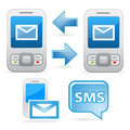 Sms communication icons Royalty Free Stock Image