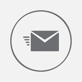 Sms envelope icon vector, solid illustration, pictogram isolated on gray.